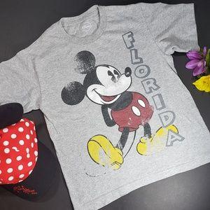 4/$25 Disney Distressed Mickey Boys Grey T-shirt